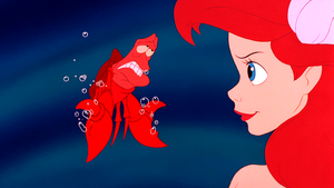 Walt डिज़्नी Screencaps – Sebastian & Princess Ariel