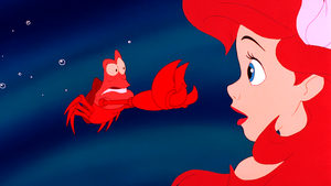 Walt Disney Screencaps – Sebastian & Princess Ariel
