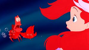 Walt Disney Screencaps – Sebastian & Princess Ariel