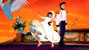 Walt ডিজনি Screencaps – The Blue Birds, Vanessa & Prince Eric