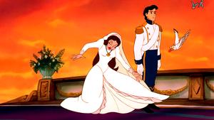 Walt 迪士尼 Screencaps – Vanessa, Prince Eric, Scuttle & The Blue Birds