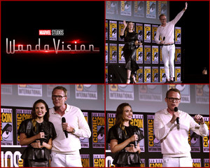 WandaVision (Elizabeth Olsen and Paul Bettany) -2019 Marvel Comic Con