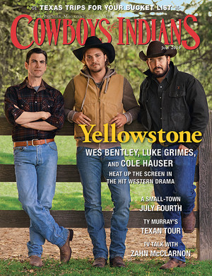 Wes Bentley, Luke Grimes and Cole Hauser - Cowboys and Indians Cover - 2019