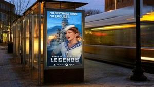 World of Warships Legengs on the Billboard Bus