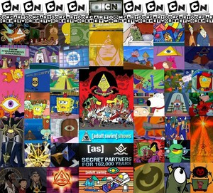all seeing eye in cartoons