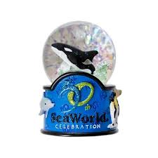 A Vintage Sea World Snow Globe