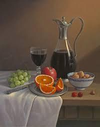 trái cây And A Glass Of Wine