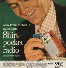 Vintage Promo Ad For Shirt-Pocket Radio