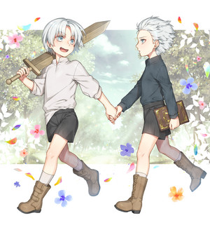 kid dante and vergil