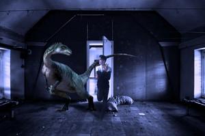 lahcen goubraym and dinosaur