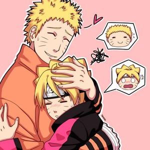 Наруто hugs boruto
