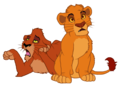 scar and mufsa as cubs - scar-and-mufasa photo