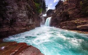 st. mary falls glacier national park