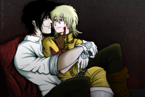 I smeared myself, Master. Can 你 help me? - Alucard X Seras Victoria
