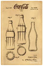 1937 Patent Coca Cola Bottle Sketch Design