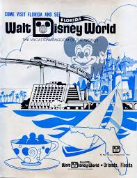 1971 Grand Opening Of Disney World Promo Ad