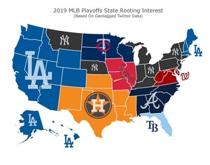 2019 MLB Playoffs State Rooting Interest