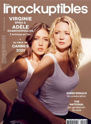 阿黛尔 Exarchopoulos and Virginie Efira - Les Inrockuptibles Cover - 2019
