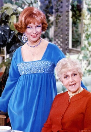Agnes Moorehead and Mabel Albertson
