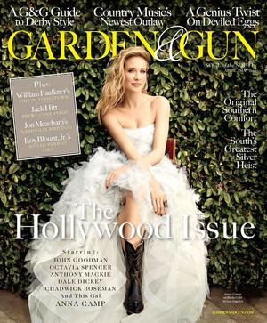 Anna Camp - Garden and Gun Cover - 2014