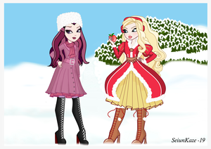 manzana, apple White and Raven queen (Christmas)