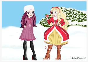 mansanas White and Raven reyna (Christmas)