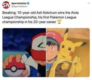 Ash wins the Alola league