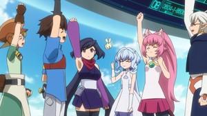 Yuuki, Riku, Sarah, Momo, Ayame and KO-1
