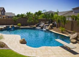 Backyard Swimming Pool With Diving Board