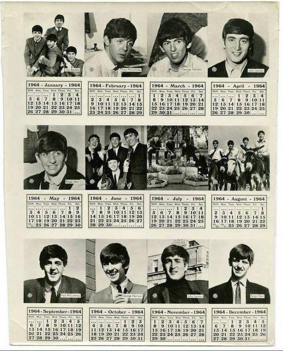 Beatles 1964 Calendar