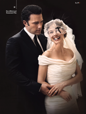 Ben Affleck and Rosamund щука - Gone Girl Photoshoot for Entertainment Weekly - 2014