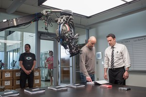 Ben Affleck behind the scenes of The Accountant