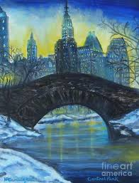 Central Park In The Winter Time