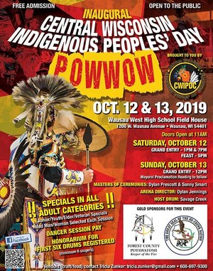 Central Wisconsin Indigenous Peoples' hari Powwow is this Saturday and Sunday in Wausau