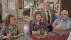Cheers Cast on The Goldbergs -  Rhea Perlman, Kirstie Alley, George Wendt and John Ratzenberger