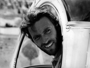Clint Eastwood behind the scenes of The Good, the Bad and the Ugly (1966)