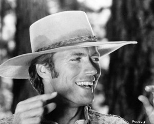 Clint Eastwood on the set of Paint Your Wagon (1969)