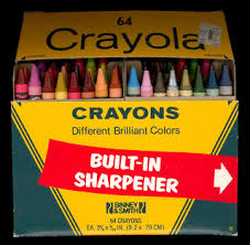 Crayola Crayons 64 Color Edition With A Built-in Sharpener