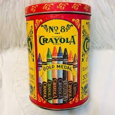Crayola Metal Tin Container