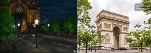 DELING CITY FAKE CITY AND PARIS CITY REAL CITY FFVIII