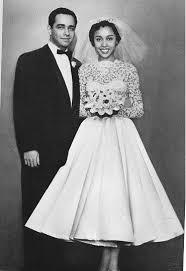 Diahnn Carroll On Her Wedding dag 1956