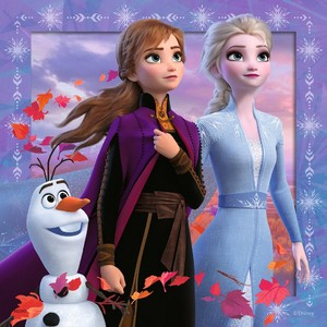 Elsa and Anna with Olaf