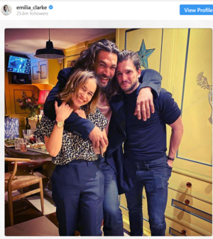 Emilia Clarke, Jason Momoa, Kit Harington host Game of Thrones reunion