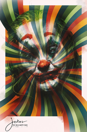 Exclusive custom Joker poster par Luke Butland
