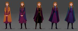 Frozen 2 - Anna Concept Art
