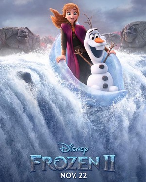 Frozen 2 Character Poster - Anna and Olaf