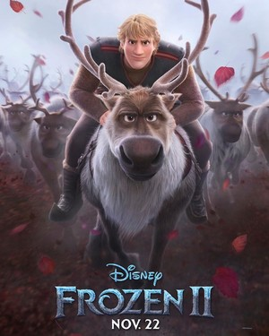 Frozen 2 Character Poster - Kristoff and Sven