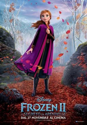 Frozen 2 Italian Character Poster - Anna