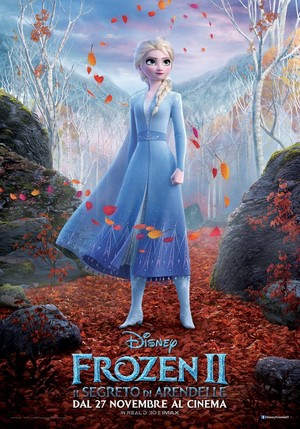 La Reine des Neiges 2 Italian Character Poster - Elsa