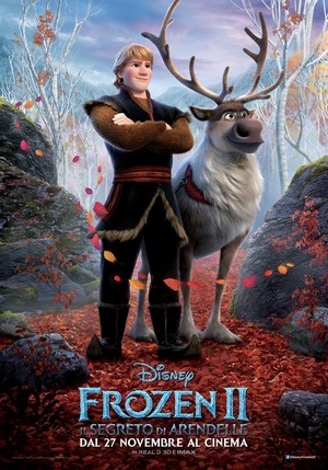 La Reine des Neiges 2 Italian Character Poster - Kristoff and sven